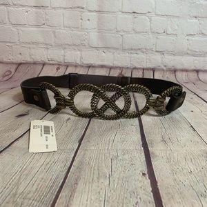 Chico's Brown Never Ending Loops Belt Size 2